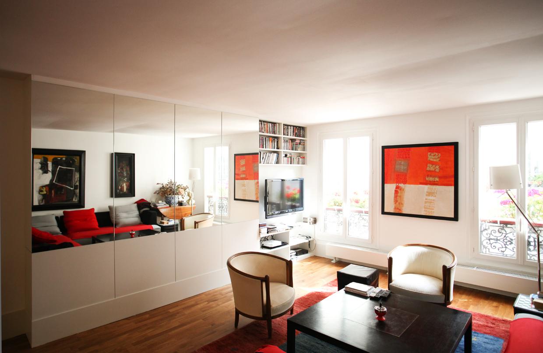 caradec architectures designs r novation d un appartement parisien traversant paris 10. Black Bedroom Furniture Sets. Home Design Ideas